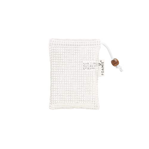 Foamie 5x Seifensäckchen Bio aus 100% Baumwolle – Seifenbeutel für Haarseife und festes Duschgel I noch mehr Schaumbildung & Peeling - Innenmaß 10,5x7,5cm