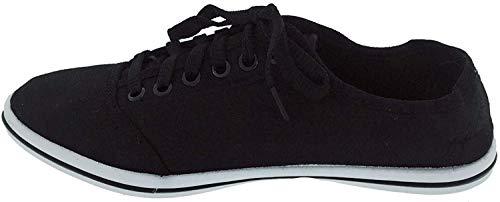 Damen Sneaker Black & White 37 Schwarz Leichter, eleganter Sommerschuh