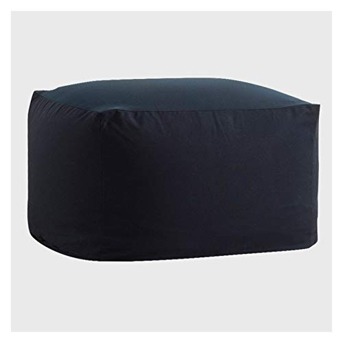 RKRLJX Bean Bag Chair: Giant Memory Furniture Bean Bag - Big Sofa With Soft Micro Fiber Cover (Color : Navy Blue, Size : 65x65x43cm)