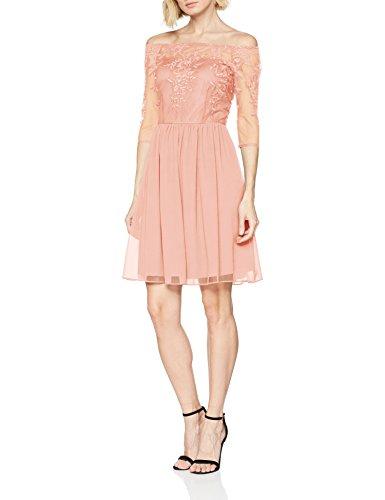 ESPRIT Collection Damen 038EO1E035 Kleid, Beige (Dusty Nude 275), Large