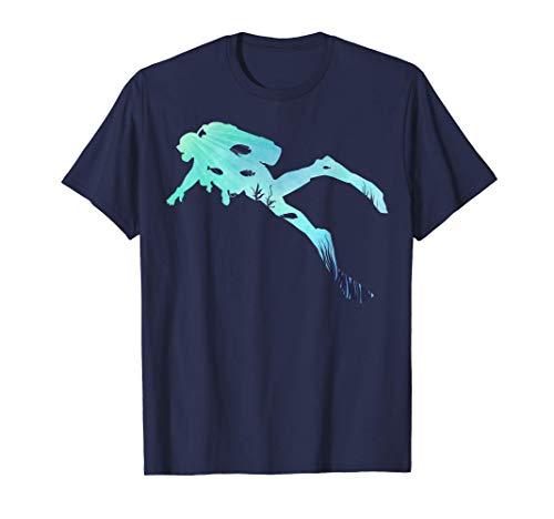Sporttauchen | Tauchen unter Wasser Geschenke | Taucherin T-Shirt
