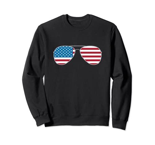 Biden 2020 Aviators Vote Biden Aviator Gafas de sol bandera de Estados Unidos Sudadera