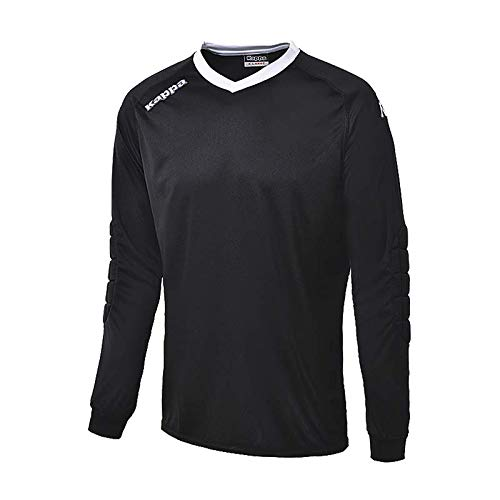 Kappa Calabria - Camiseta de Portero Unisex, Color Negro, Talla XXL