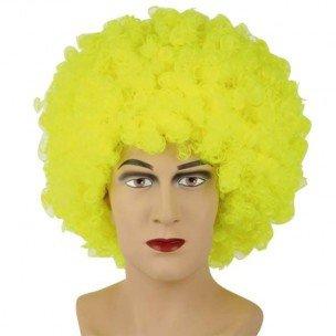Perruque Afro Couleur - Jaune