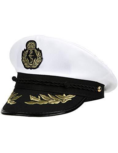 Balinco Kapitänsmütze für Herren & Damen - Kostüm für Erwachsene & Kinder - perfekt geeignet für Fasching & Karneval - Einheitsgröße