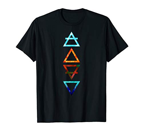 Four Element Greek Triangle Symbols (Air, Fire, Earth, Water
