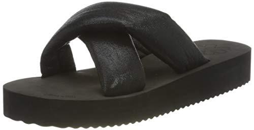 flip*flop Plateau Chic, Sandalias Mujer, Negro/Negro Metalizado 0112, 41 EU