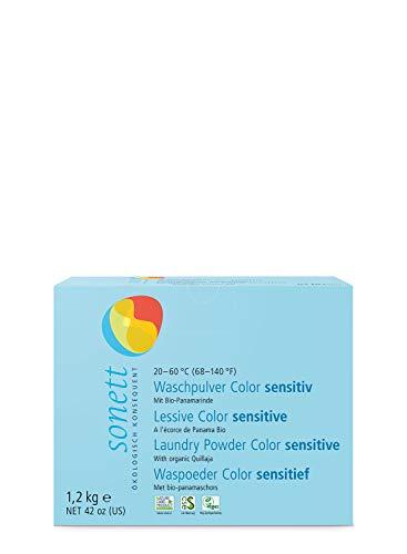 Waschpulver Color Sensitiv: Mit reiner Bio-Pflanzenseife, 100% biologisch abbaubar, 1.2 kg