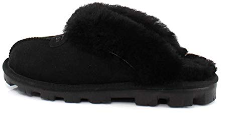 UGG Women's Coquette Slipper, Black, 8