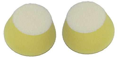 Proxxon Profi-Polierschwämme (ø 50 mm, Höhe 25 mm, 2 Stück, konische Form, Härtegrad mittel, Schwämme zum Aufbringen der Polieremulsion auf Lack-und Metallflächen) 29094
