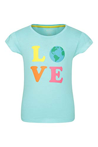 Mountain Warehouse Explore Organic Cotton Kids Tee - 100% Organic Cotton Childrens T-Shirt, Lightweight Tee Shirt, Sustainable - Best for Summer, Hiking, Outdoors Sarcelle 11-12 Ans