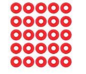 Delaman Silikondichtungen, 25 Stück, Silikondichtungen, Rot, für Swing Flip Top Flasche Home Brew Bier Flaschen Dichtungen kompatibel mit Grolsch