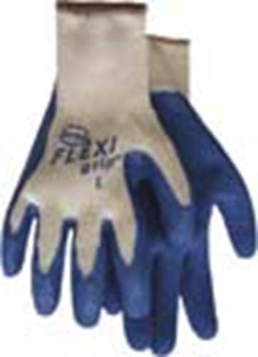 Boss Gloves 8426XL Extra Large Flexi Grip Knit Gloves, Blue and White - Flexi Grip Knit Gloves, X-Large