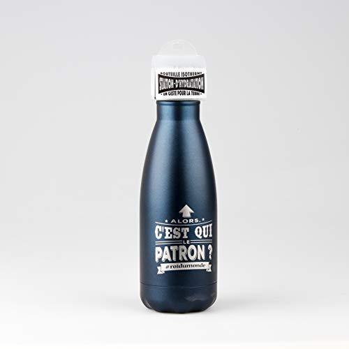 STATION D'HYDRATATION Estación de hidratación 04218000013 - Botella isotérmica, Acero Inoxidable, Azul, Talla única