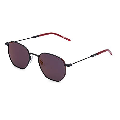 Hugo Boss Sonnenbrillen (HG-1060-S BLXAO) schwarz matt - rot metalisiert - grau - petrol verspiegelt