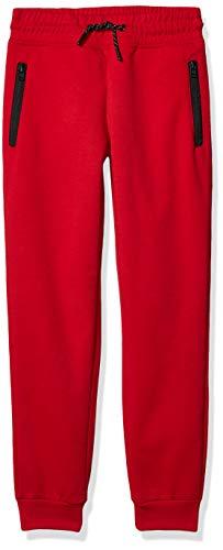 Southpole Jungen Tech Fleece Jogger Pants with Zipper Details Jogginghose, Rot ohne Panel, XL
