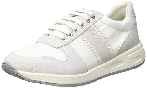 Geox D BULMYA A, Zapatillas Mujer, Color Blanco, 39 EU