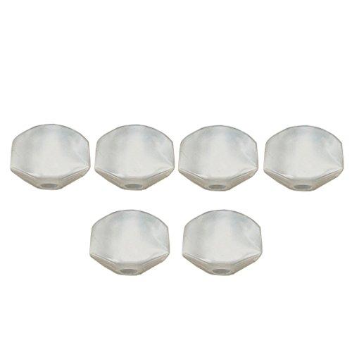 6 Stück Vintage Mechaniken Knöpfe Stimmwirbel Button für Gitarre, Weiß
