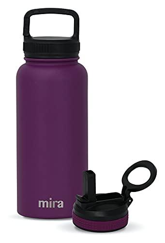 Botella de agua de acero inoxidable con aislamiento al vacío para mantener el agua fría durante 24 horas, caliente durante 12 horas, botella de metal sin BPA.