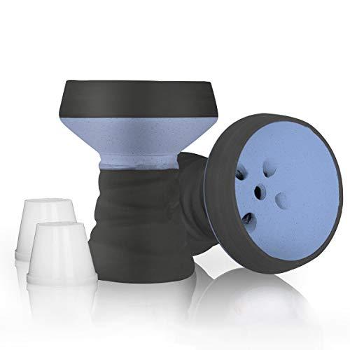 DFESKAH Shisha Kopf, 2 X Steinkopf mit Dichtung, Universal Zubehör passt für Jede Wasserpfeife (Navy Blau)