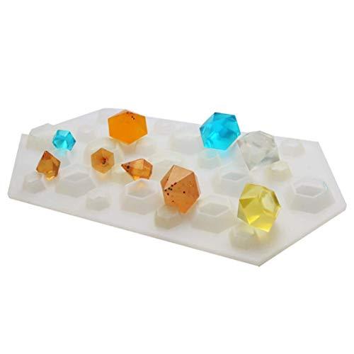 TOOGOO Diamant DIY en Silicone Pochoir Artisanat Moule Moule Collier Bijoux Resine Pendentif Durable