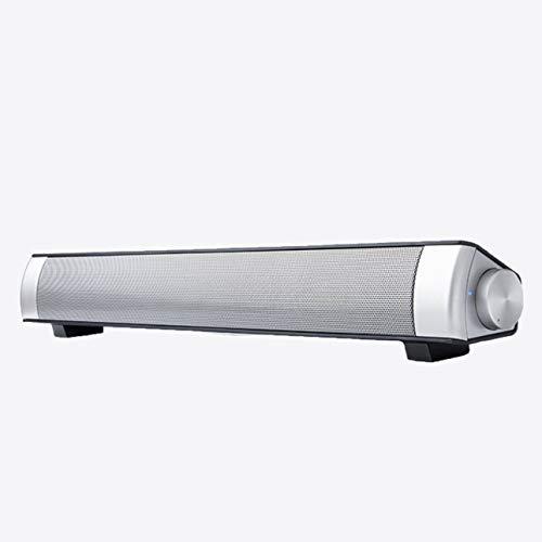 Barra de Sonido con Carga USB Subwoofer Altavoz estéreo para computadora de Escritorio Computadora portátil PC Alto Rendimiento de Sonido