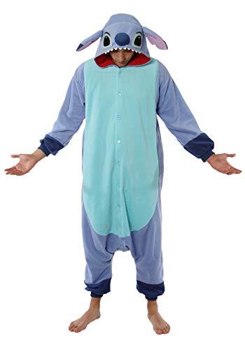 Kigurumi pyjamma Stitch grenouillère adulte - Bleu - M/L