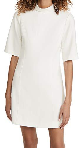 Alice + Olivia Women's Coley Mock Neck A-Line Dress, Off White, 6