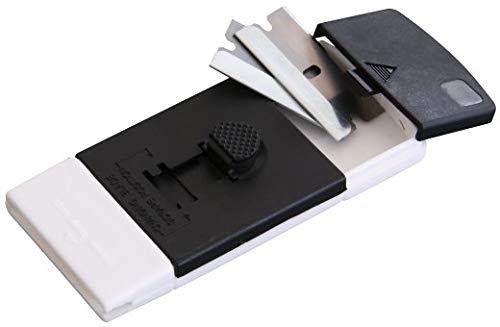 Fackelmann 60141 Reinigungsschaber mit 2 Klingen 10x4,5x1,5cm aus ABS/Edelstahl,