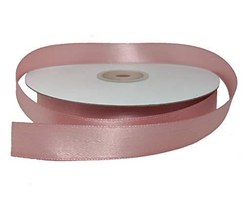 PuntoCasaStore Nastro Doppio Raso 15 MM Rotolo da 50 Metri Ribbon Satin (Rosa Antico)