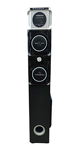 Vorvox Bluetooth Multimedia Tower Speaker 35000W PMPO with FM/PenDrive/Mobile/Aux Support (100 cm Height)