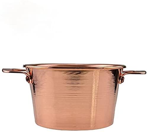 Gulaschkessel aus reinem Kupfer, heißer Topf, Spießtopf, klarer Suppentopf, Shabu-Shabu, 18 cm