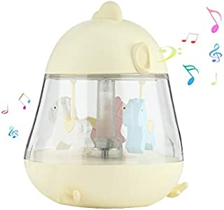 IEGrow Carousel Music Night Light Lamp with Adjustable Lightness, Remote Control Timer Lighting Modes, Music Speaker, 3 Led Light Projector for Baby, Kids, Adult and Bedroom Living Room