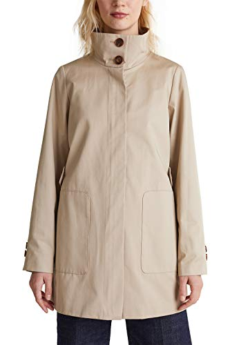 ESPRIT Collection katoenen mantel met hoge opstaande kraag