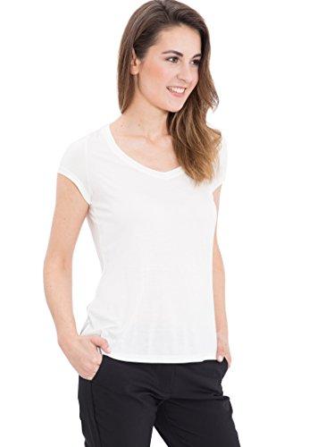 Mexx Damen C&S T-Shirt, Weiß (Cloud Dancer 102), 36 (Herstellergröße: S)