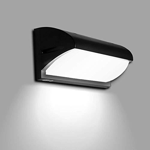 Lightsjoy Lámpara de Pared Exterior Aplique de Pared LED 10W Impermeable IP65 Luz de Aluminio Acrílico Moderna Iluminación paea Escalera, Jardín, Patio, 6000K Blanco Frío