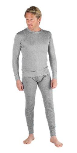 Sous-Vêtements Thermique (Maillot de Corps Manches Longues et Long Caleçon) Pour Homme denim Large