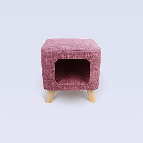 LCSD Cama para perro, color rojo, creativo, cuadrado, simple, para verano, para gatos, semicerrado, para gatos, suministros para mascotas, nido de arena para gatos (tamaño : S)