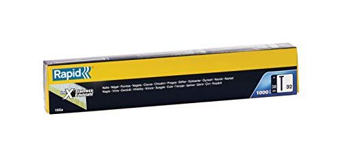 Rapid, 40303068, Clous N°32, 38mm de longueur, Angle de 34°, 1000 pièces, Acier Inoxydable enduit de résine, Haute performance