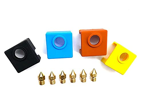 1set 3D Printer Parts MK8 Extruder Nozzle Extruder Print Head 0.2/0.3/0.4/0.6/0.8/1.0/mk9 Silicone Sock For Creality CR-10 Ender3