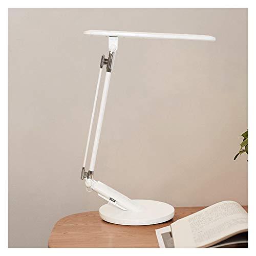 Lámpara de Escritorio Lámpara de escritorio con 4 modos de color y 7 brillo Dimmer, Control Toque Lámpara de escritorio LED Lámpara de escritorio de oficina plegable, Tiempo automático Flexo de Escrit