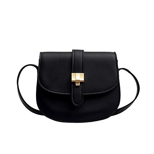Crossbody Saddle Bag Women Lady Leather Crossbody Bag Small Pouch Half Moon Shaped Vintage Saddle Bag Flap