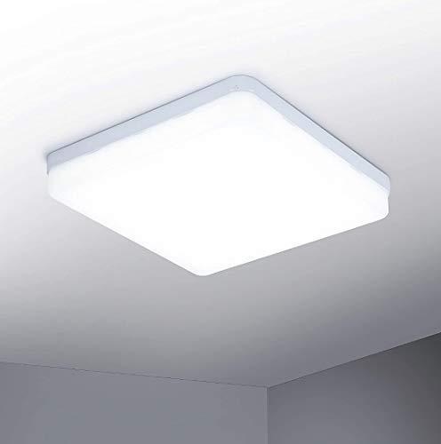Lámpara de Techo Moderna 48W Plafón Led Cuadrado Ultra Delgado Downlight. Color Blanco frio (6500K). 4000 Lumenes. Lampara cocina. A++