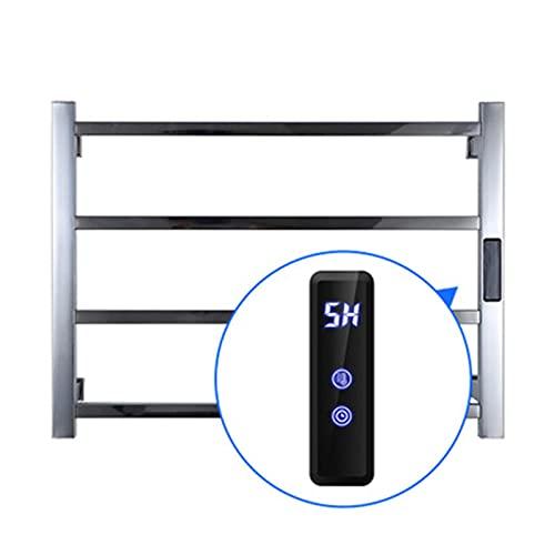 Toallero eléctrico con calefacción con Control de Tiempo/Temperatura, Rejilla de Secado para...