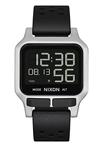 Nixon Herren Digital LCD-Digitalmodul Uhr mit Silikon Armband A1320130-00
