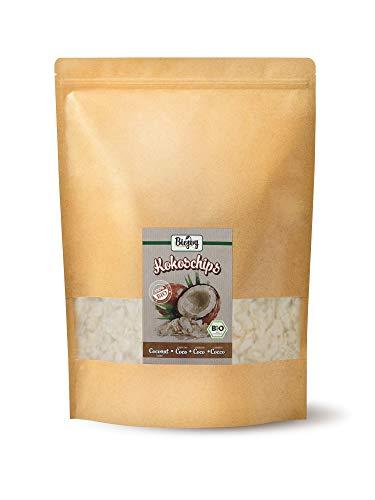Chips de Coco deshidratado orgánicos, sin azúcar y sin tostar (1 kg)
