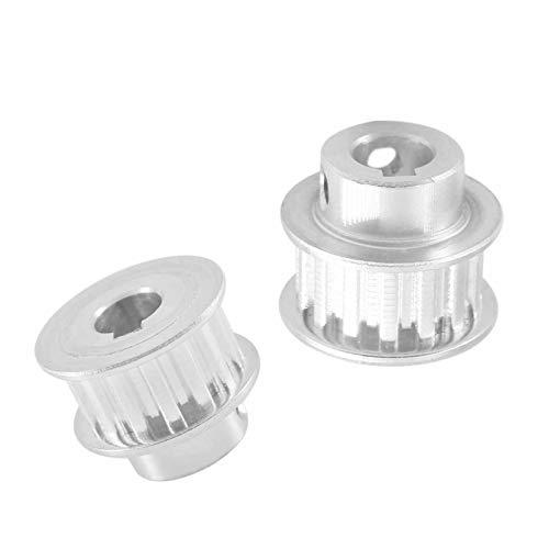 SANKUAI LT-3d, 2pcs XL 16T Keyway Timing Pulley 8/10mm Bore Keyway Diameter 3/4mm 11mm Width Synchronous Wheel Pulley For 3D Printer (Color : Bore 10mm key 4mm, Size : 11mm)