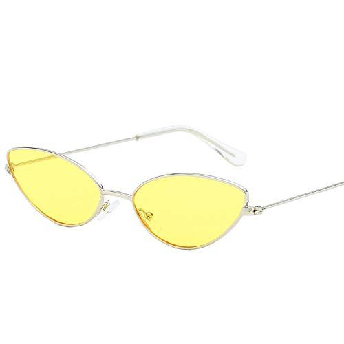 TANGMING Mode Petit œil de Chat Lunettes de Soleil Femmes Hommes lentilles de Couleur Transparentes Neutre Ovale Femmes Lunettes de Soleil Femmes Uv400 BLS360-C4