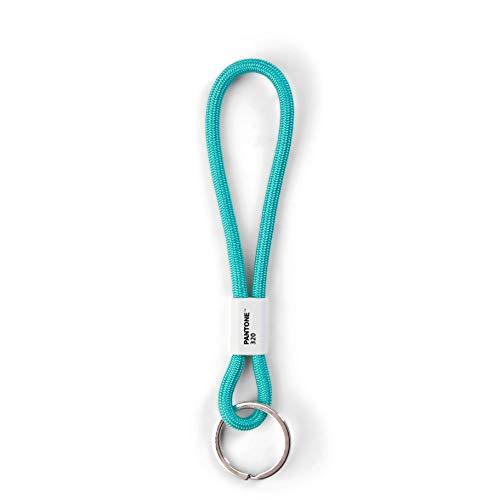 Pantone Turkis Design-Schlüsselband Key Chain Short | Schlüsselanhänger robust und farbenfroh | kurz 320 C, Nylon, 18 cm