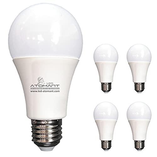 Pack 5x Bombilla LED A60, 12w. Color Blanco Neutro (4500K). Equivalencia 100w, no Regulable, 1120 lúmenes. A++